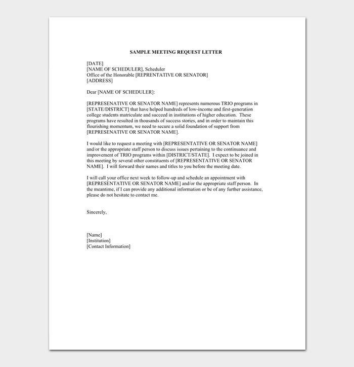 Appointment request letter 14 letter samples formats appointment request letter for meeting altavistaventures