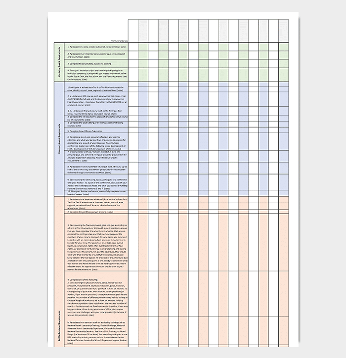 Award Inventory Tracking Template