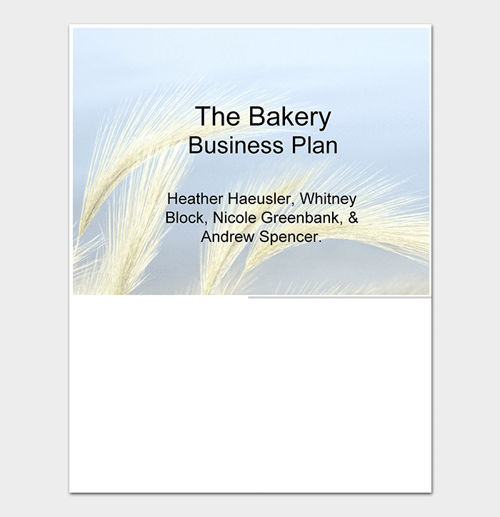Bakery Business Plan Template In PPT