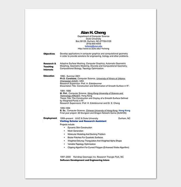 computer science engineering resume template