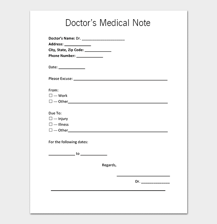 picture relating to Printable Doctors Note named Health-related Observe Template - 30+ Physician Observe Samples