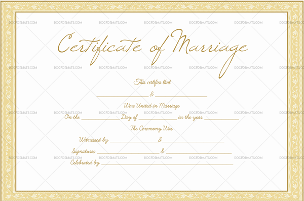 Editable Marriage Certificate—Royal Gold (Preview)