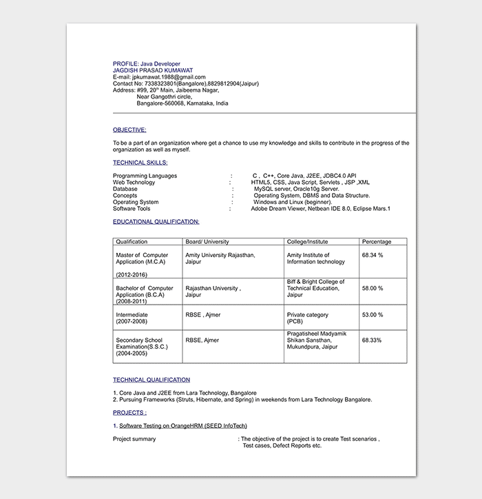 Entry Level Computer Engineering Resume Template