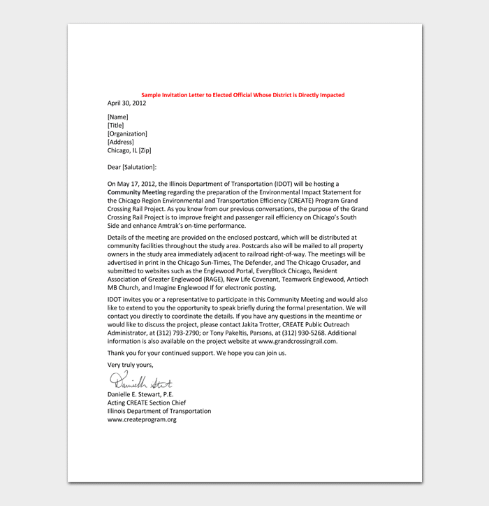Formal Meeting Appointment Letter