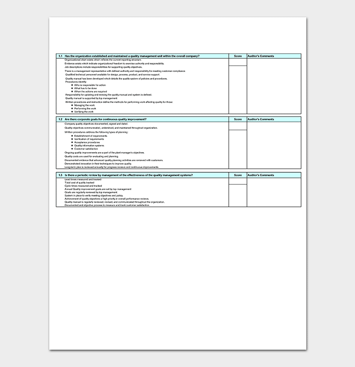 Free Audit Tracking Inventory Template