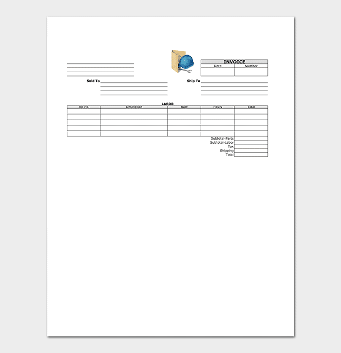 General Contractor Invoice Template  General Contractor Invoice