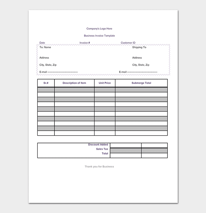 General Invoice Template For Word Excel PDF Format - General invoice template