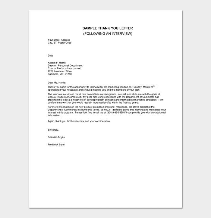 Interview Appointment Response Letter Sample