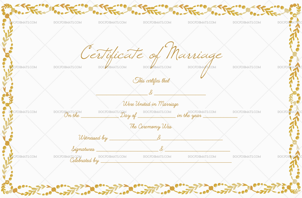 Marriage Certificate—Royal Gold (Preview)