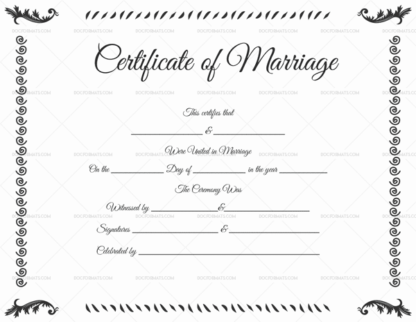Marriage Certificate Template - 22+ Editable (For Word & PDF Format)
