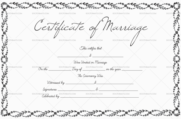 Marriage Certificate Template—Royal Silver (Preview)