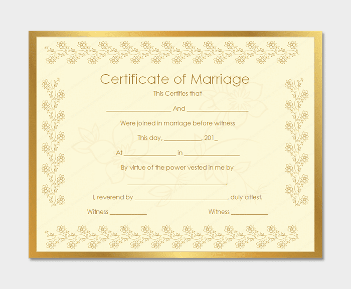Marriage Certificate from getcertificatetemplates 2