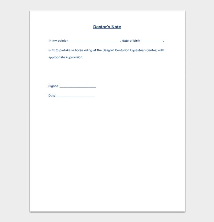 Medical Note Format