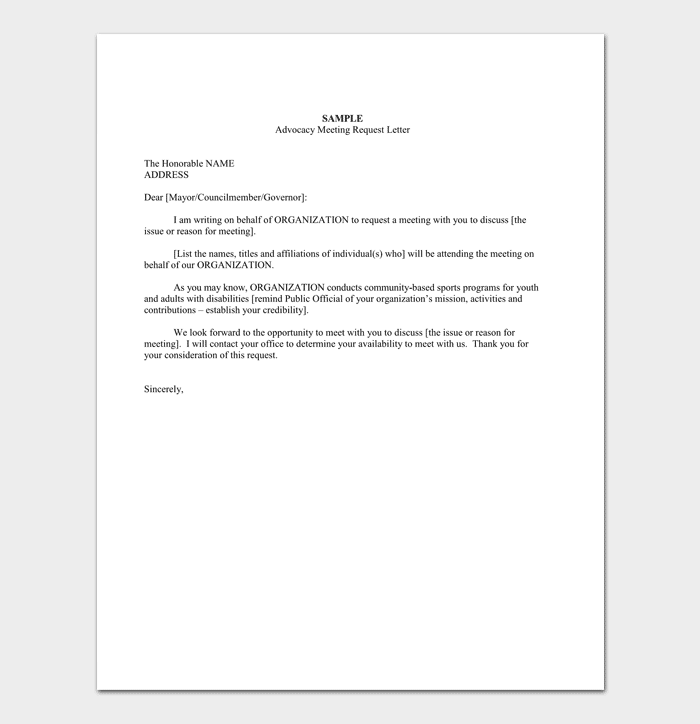 Superior Meeting Appointment Request Letter Sample