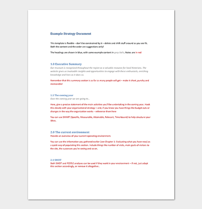 Paper Strategy Document Template