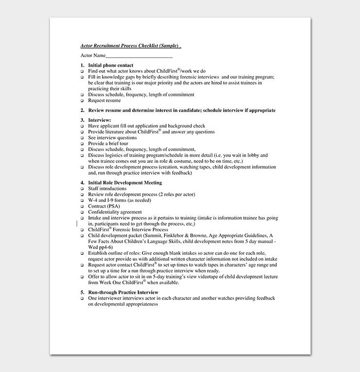 questionnaire on recruitment process pdf