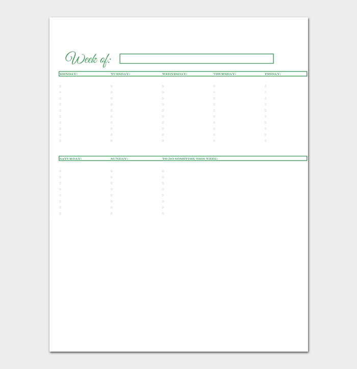 To Do List Template in PDF