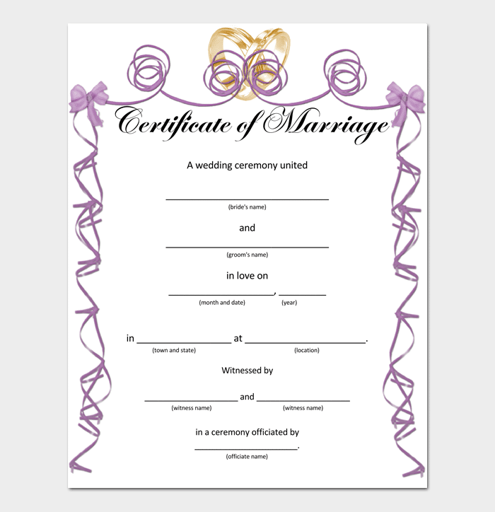 Wedding Certificate (PDF) 1