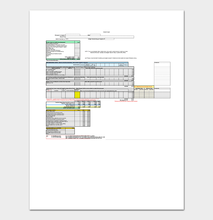 Detailed Research Budget Template