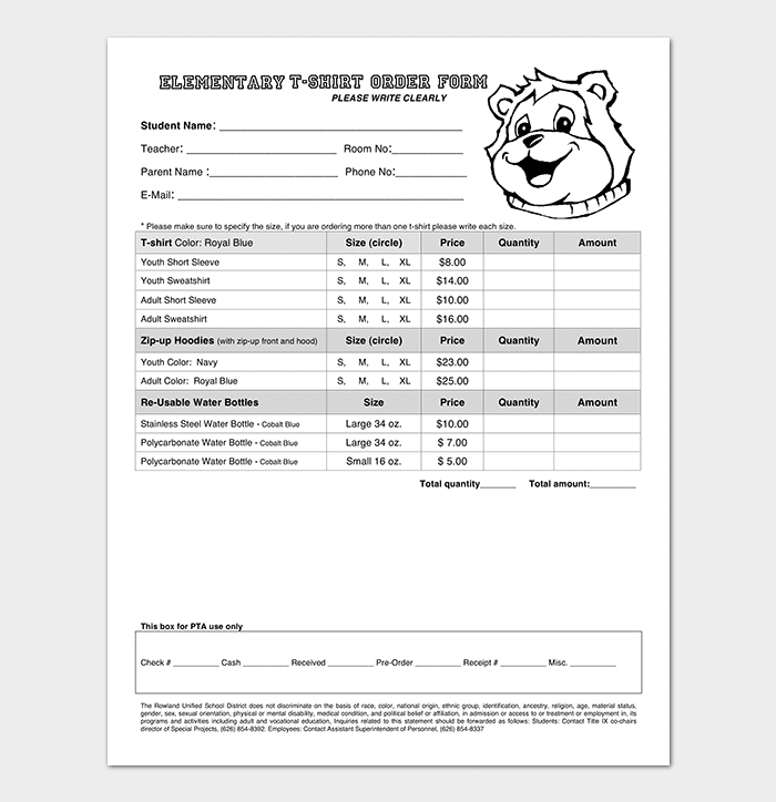 Elementary-T-Shirt-Order-Form-Template T Shirt Design Order Form Template on microsoft t-shirt template, t-shirt order template, printable t-shirt template, t-shirt form template,