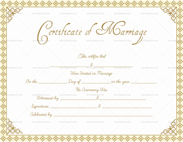 marriage certificate format  editable designs in word