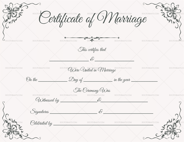 How To Request A Copy Of Your Marriage Certificate Online: Marriage Certificate Format