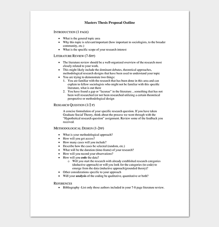Master Thesis Outline Template