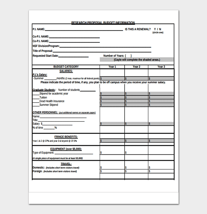 Research Budget Template 14 Worksheets Examples For Word Excel