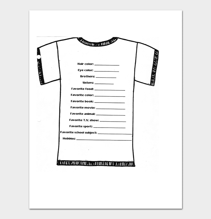 Simple T shirt Design Order Form Template
