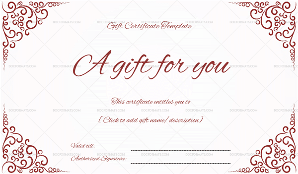 Business Gift Certificate Is Mostly Presented To Loyal Customers As  Appreciation, Fighting For Customers And Also For The Marketing Purposes.