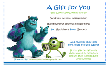 Free Customizable Gift Certificate Template For Word PDF - Free customizable gift certificate template