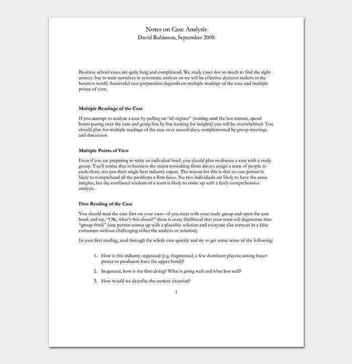 Case Analysis PDF