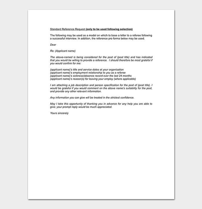 Co Workers Professional Reference Letter