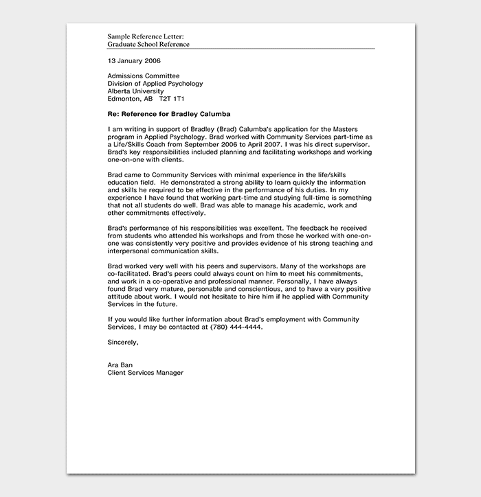school reference letter  format  u0026 15  sample letters