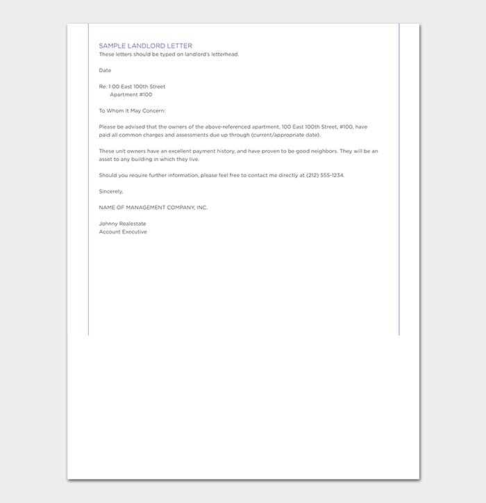 landlord reference letter  tips  format  u0026 sample letters
