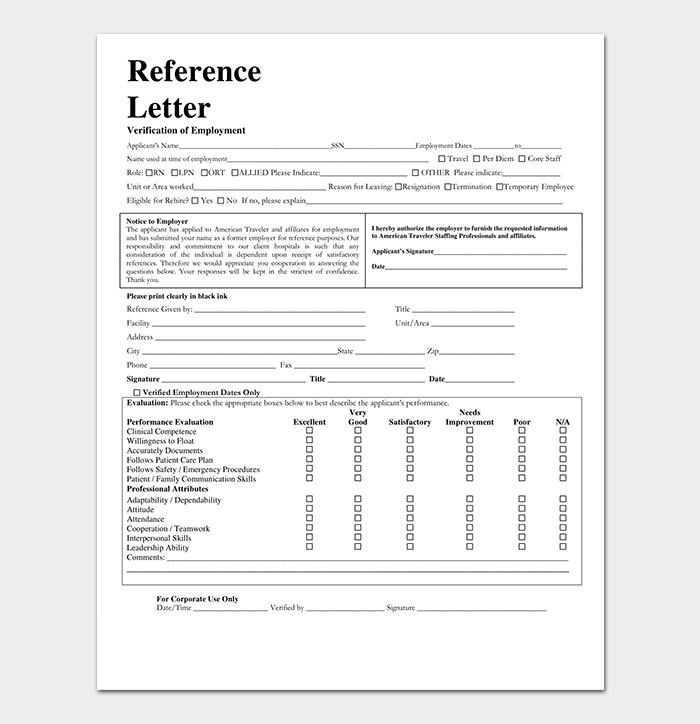 Nursing Job Reference Letter PDF