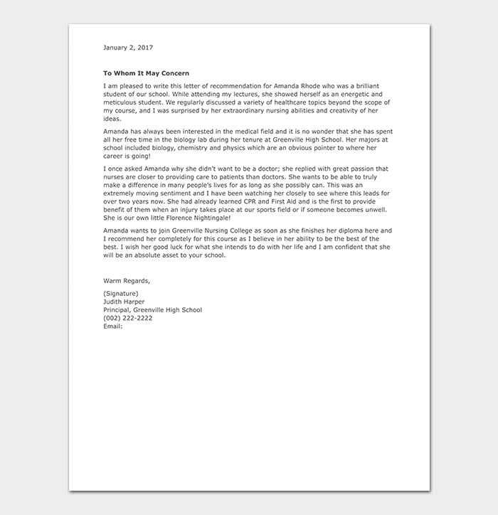 Sample Recommendation Letter For Intern from images.docformats.com