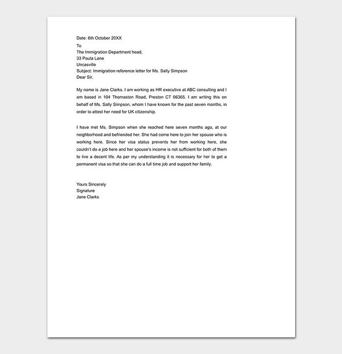 Sample Personal Character Reference Letter For A Friend from images.docformats.com