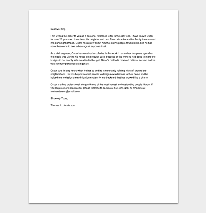 Personal-Work-Reference-Letter Job Application Letter on best example nursing, example written, written form,