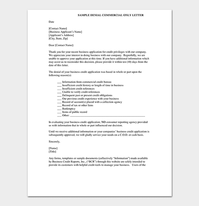 Sample Letter Of Rejection Of Business Proposal from images.docformats.com