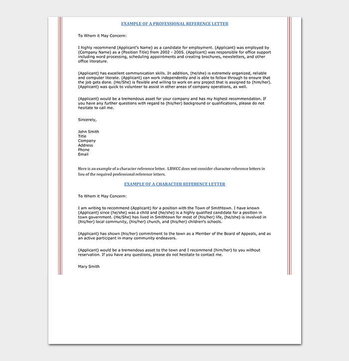 Nursing Reference Letter | 16+ Sample Letters
