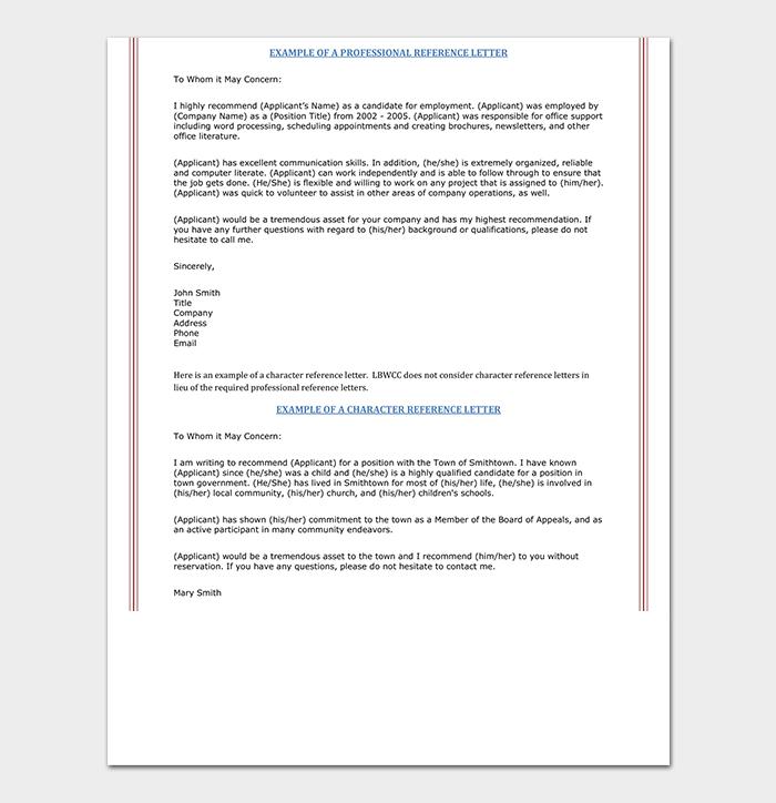 Professional Nursing Reference Letter PDF