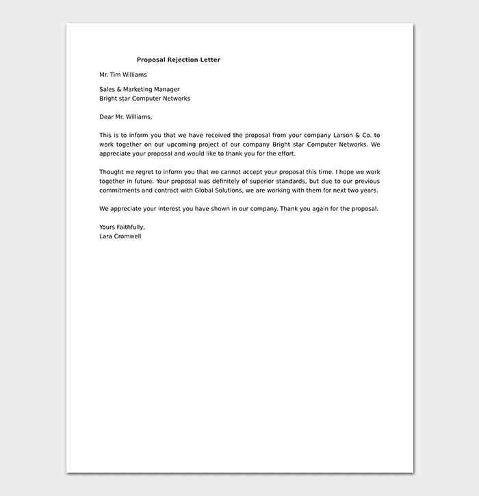 Proposal Rejection Letter DOC
