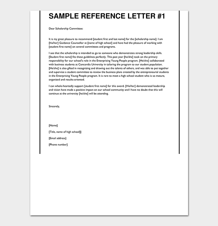 Letter Of Recommendation For College Sample from images.docformats.com