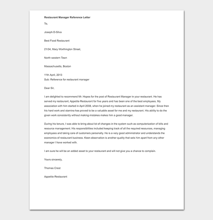 Recommendation Letter For Employee From Manager from images.docformats.com