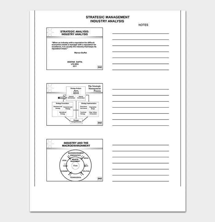 Strategic Management Analysis Template