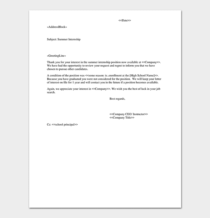 Thank You Letter For Internship from images.docformats.com