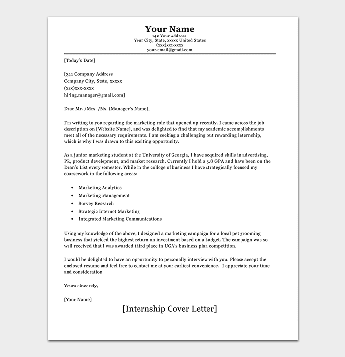 Internship Request Letter: How to Write (with Format