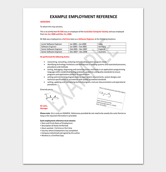 Reference Letter For Employment Sample from images.docformats.com