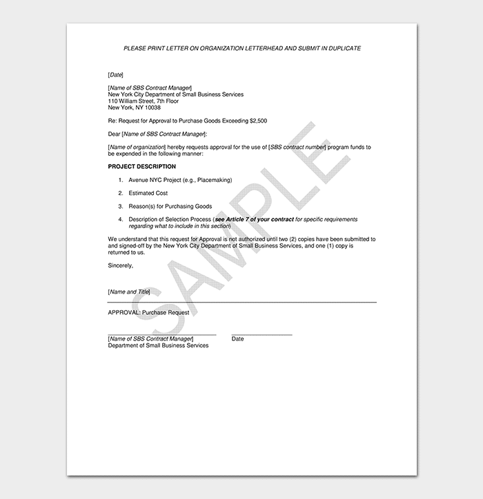 Purchasing Approval Request For Purchasing Goods
